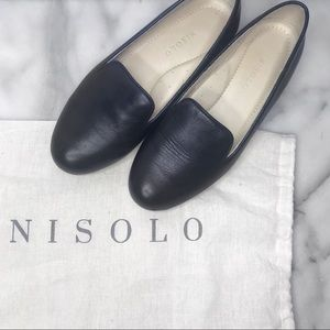 Nisolo Black Leather Smoking Shoe Size 6